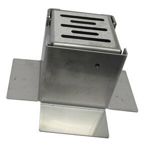 Eindkap - 100 x 100 mm - roestvrijstaal